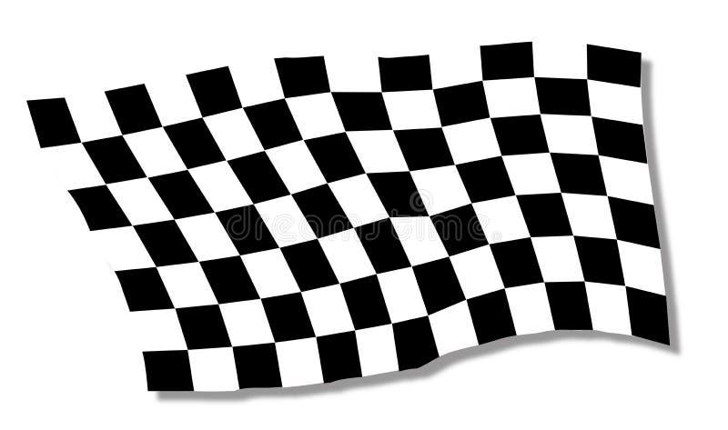 Ondeggiamento striato della bandiera della vettura da corsa illustrazione vettoriale