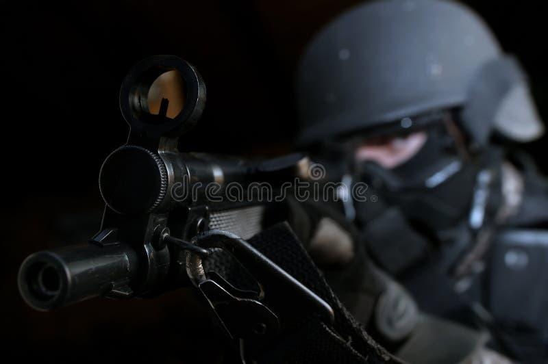 Onder arrestatie stock foto's