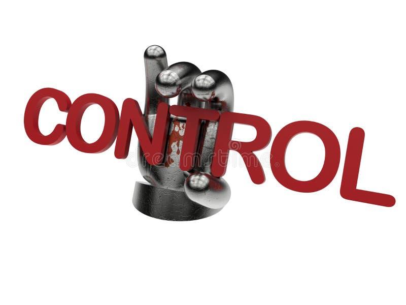 Onder controleconcept vector illustratie