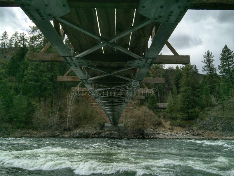 Onder de brug royalty-vrije stock fotografie