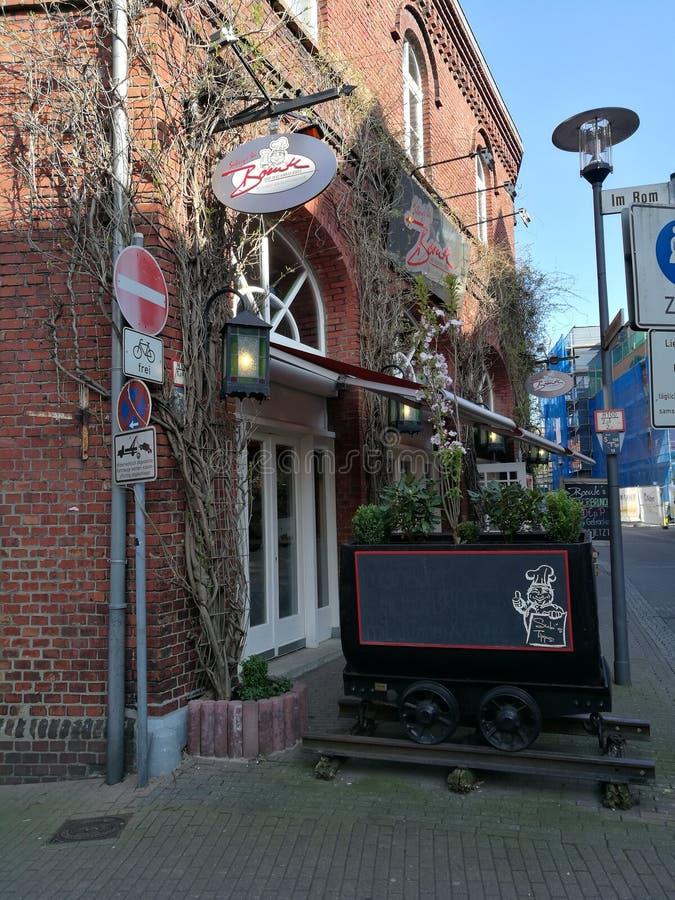 Onder de de Stads` s Zon van Recklinghausen stock foto