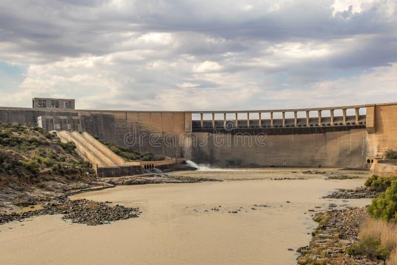 Onder de Gariep-Dammuur Zuid-Afrika stock foto's