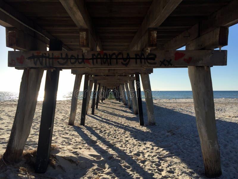 Onder de Pier stock fotografie