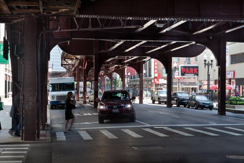Onder Gr Chicago stock afbeeldingen