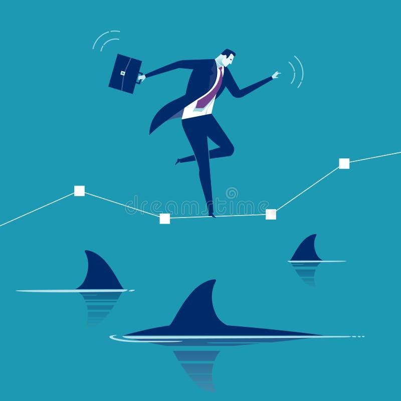 Onder Haaien stock illustratie