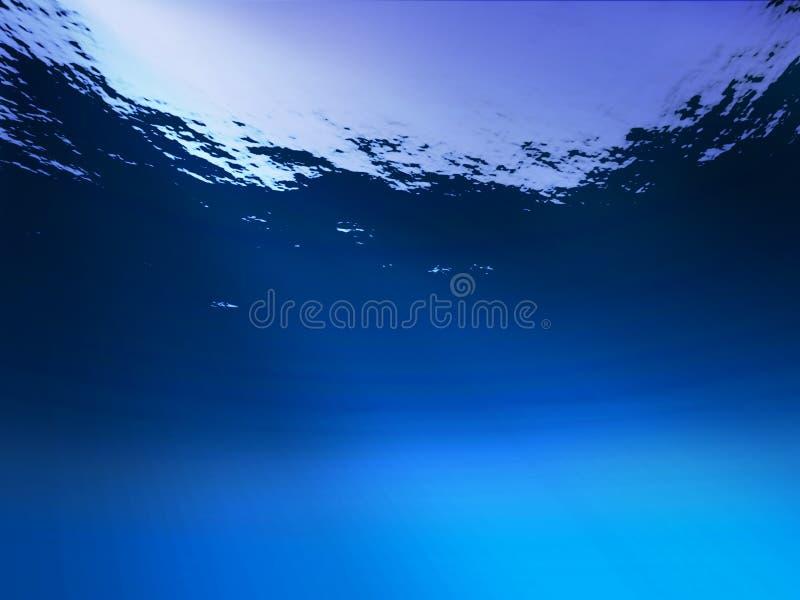 Onder water stock illustratie