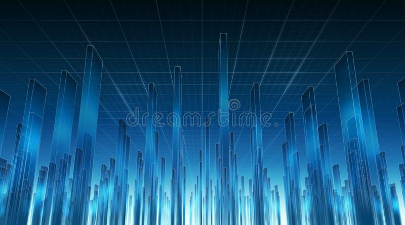 Onderaan in Cyberspace 02 stock illustratie