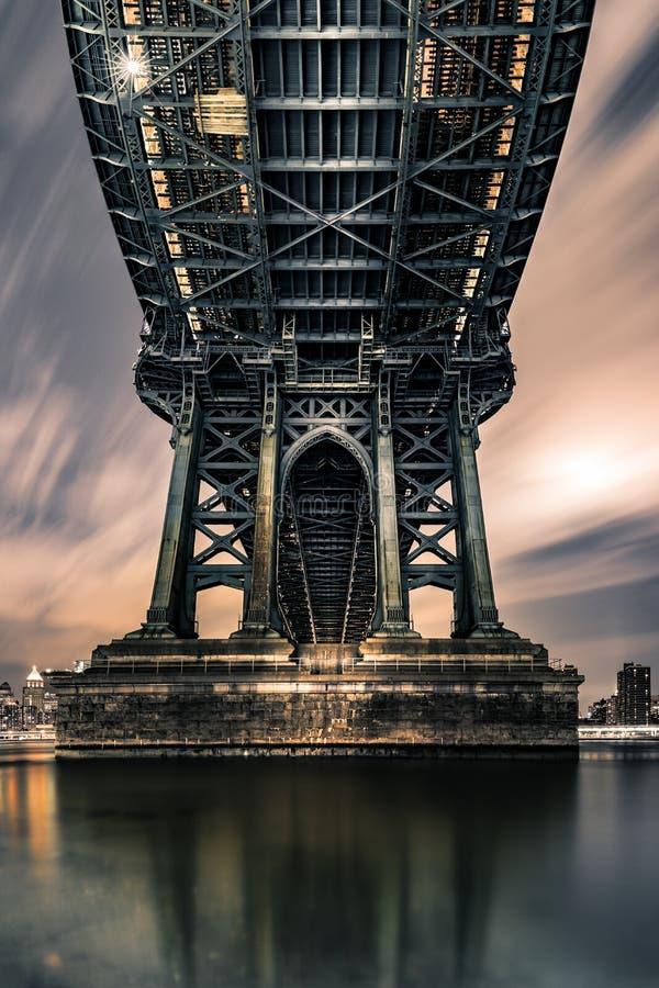 Onderaan de Onderbrug van Manhattan royalty-vrije stock foto