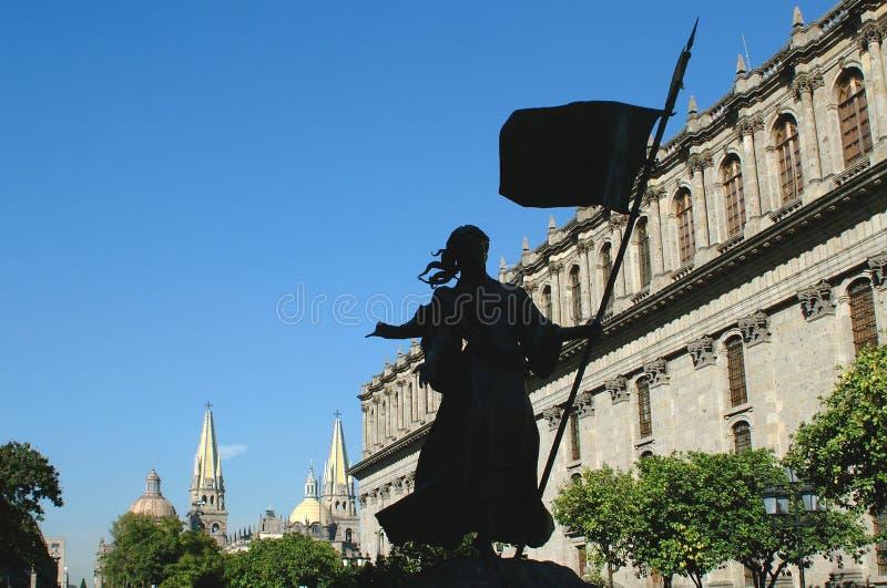 Onderaan stad in Guadalajara royalty-vrije stock afbeelding