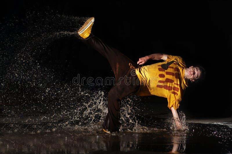 Onderbreking-dans-onderbreking op water royalty-vrije stock fotografie
