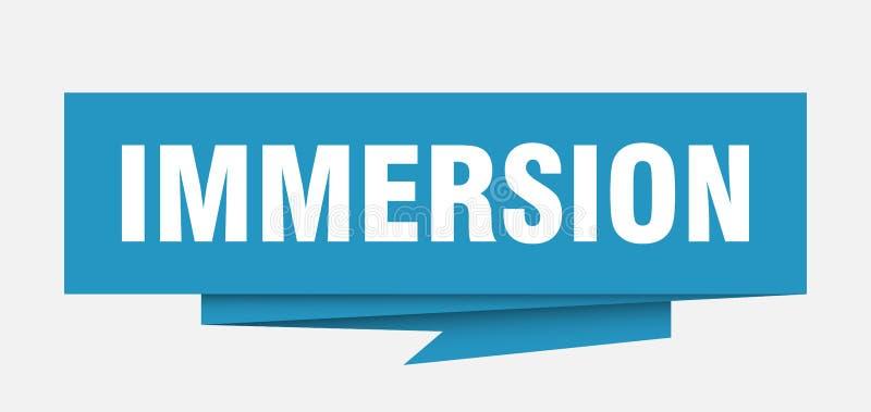 onderdompeling vector illustratie