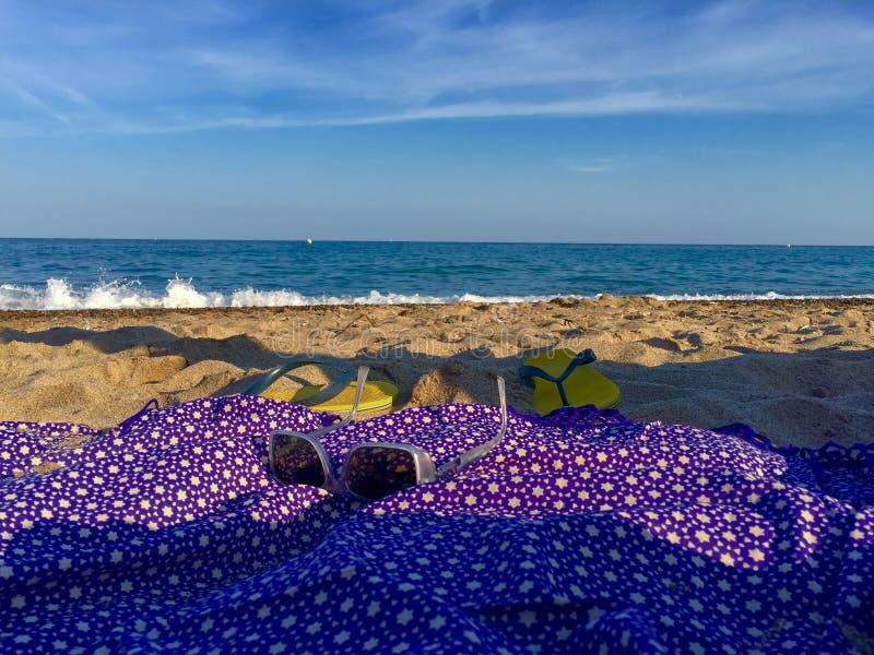 Onderdompeling op het strand royalty-vrije stock afbeelding