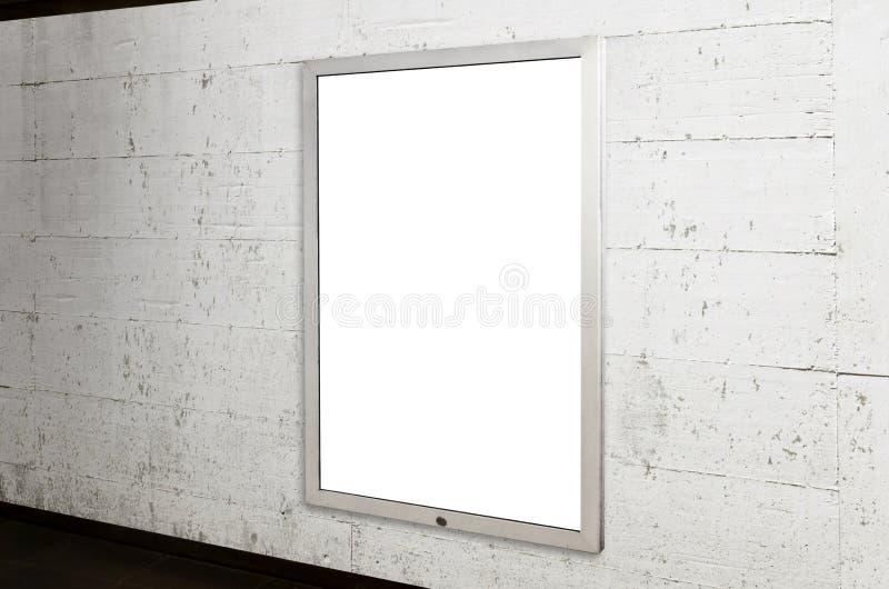 Ondergronds aanplakbordmodel affiche voor reclamecampagnebevordering stock fotografie