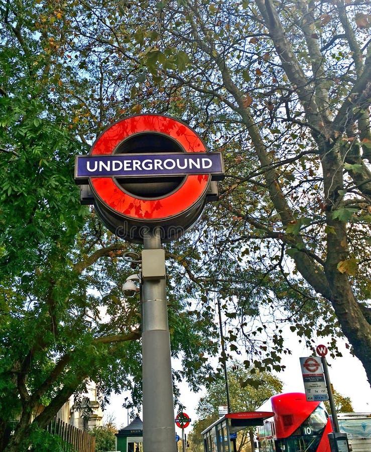 Ondergronds de Postteken van Londen stock afbeelding