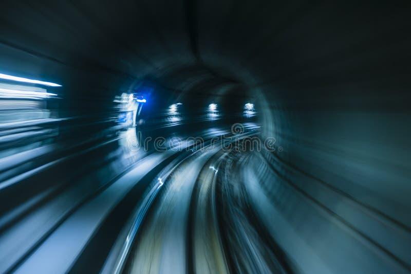 Ondergronds metrospoor royalty-vrije stock afbeeldingen