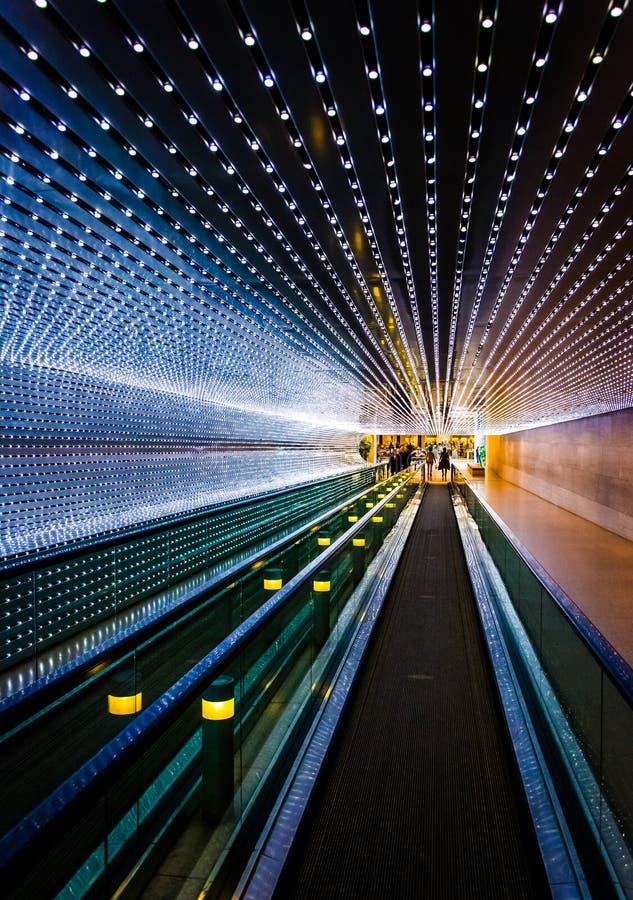 Ondergronds rollend trottoir bij het National Gallery van Kunst, in Wa royalty-vrije stock afbeeldingen
