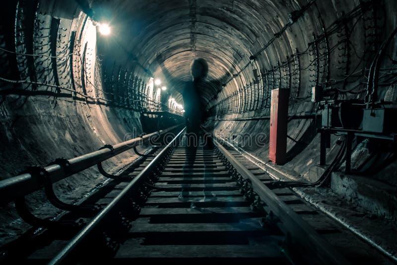 Ondergronds spook stock afbeeldingen