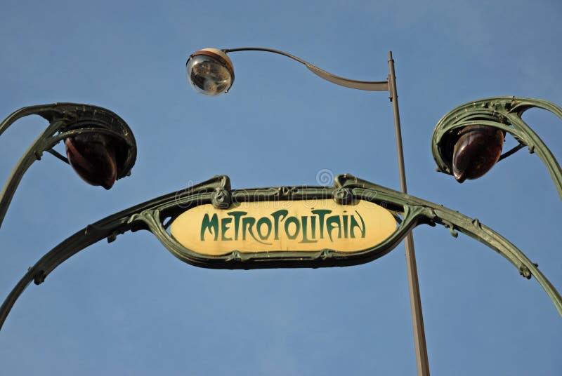 Ondergronds teken in Parijs royalty-vrije stock afbeelding