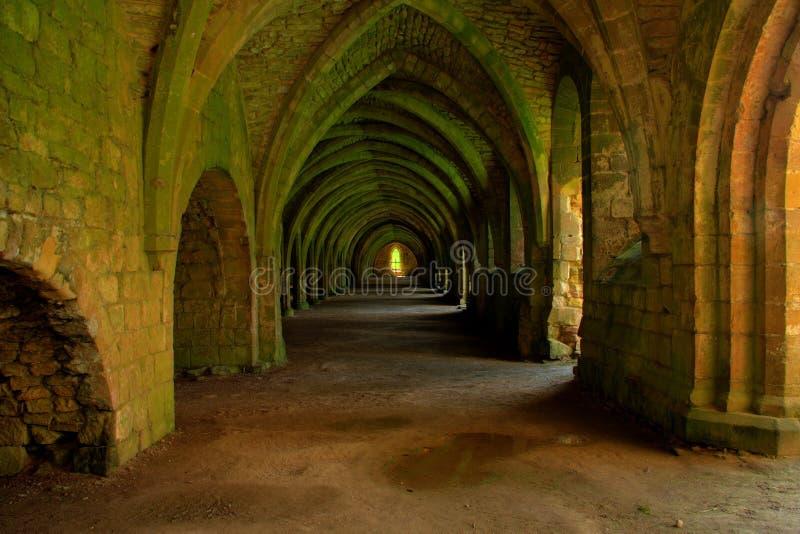 Ondergrondse de Abdij van fonteinen stock afbeeldingen