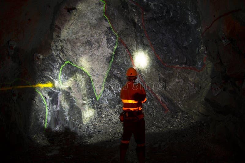 Ondergrondse Geoloog royalty-vrije stock afbeeldingen