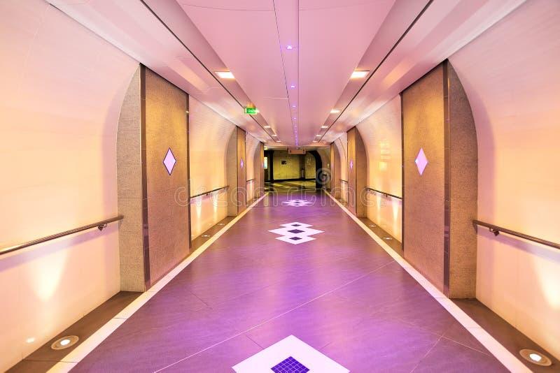 Ondergrondse passage in Monte Carlo, Monaco. stock foto's