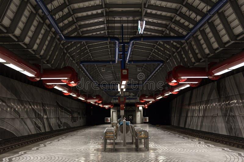 Ondergrondse post Gelsenkirchen Duitsland stock afbeeldingen