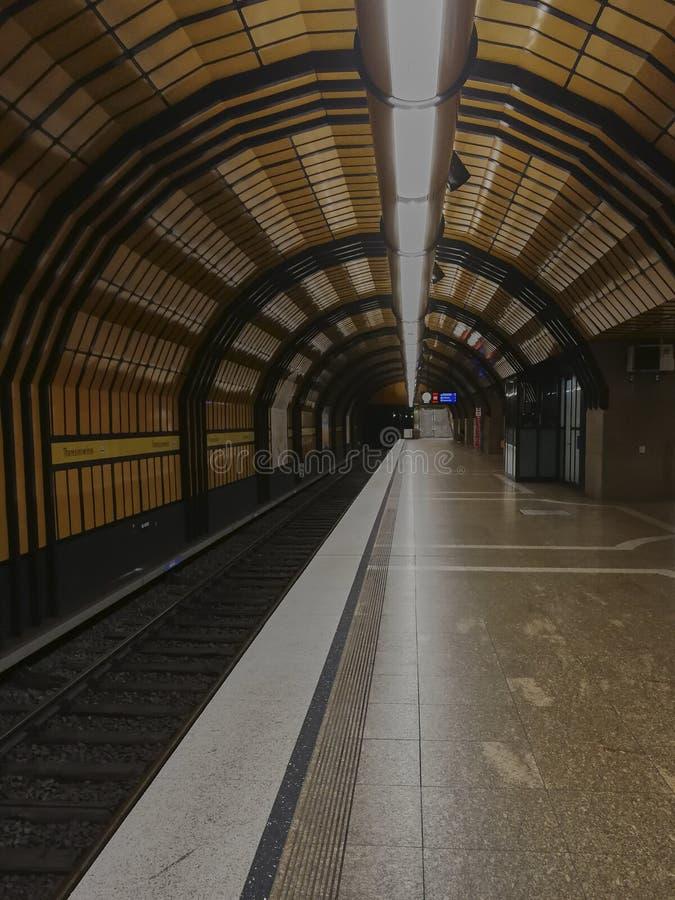 Ondergrondse post in München, Theresienwiese royalty-vrije stock afbeeldingen