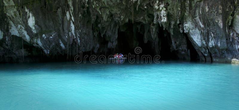Ondergrondse rivier sabang palawan Filippijnen royalty-vrije stock afbeeldingen
