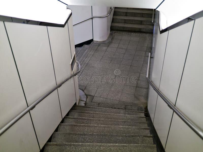 Ondergrondse tredeweg royalty-vrije stock afbeelding