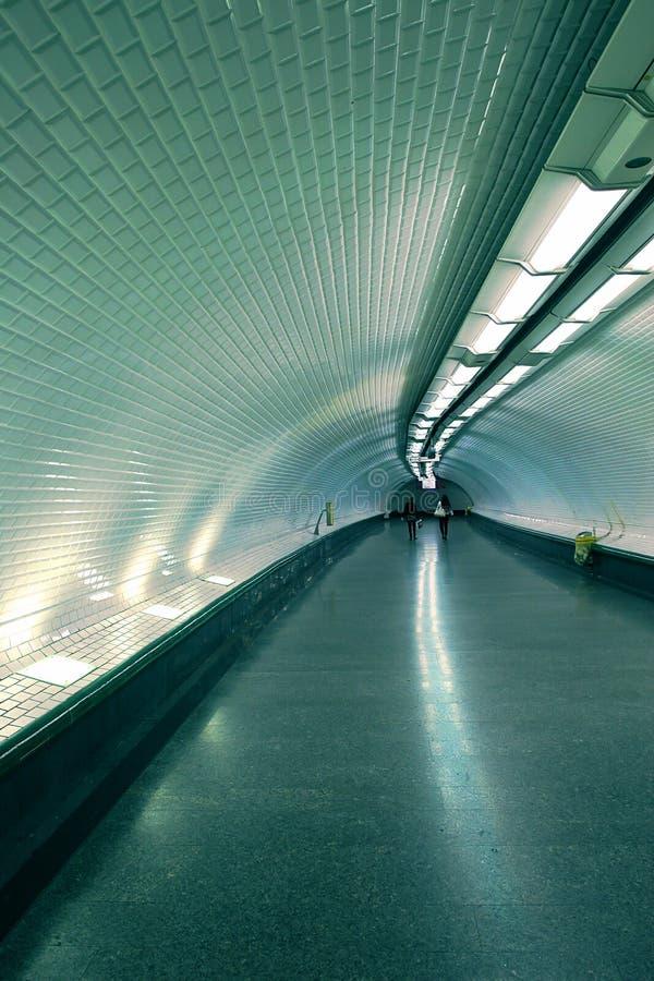 Ondergrondse tunnel. royalty-vrije stock foto's