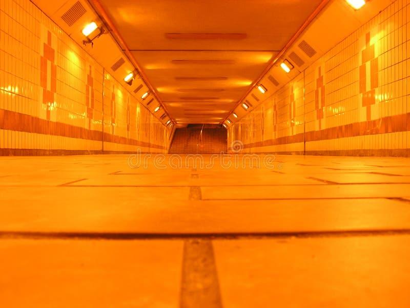 Ondergrondse tunnel stock foto
