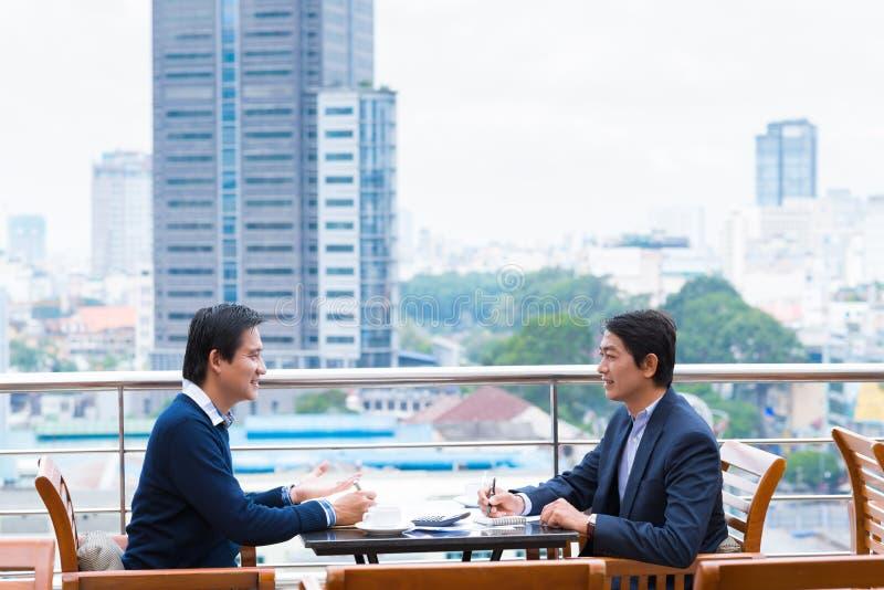 onderhandeling royalty-vrije stock foto's