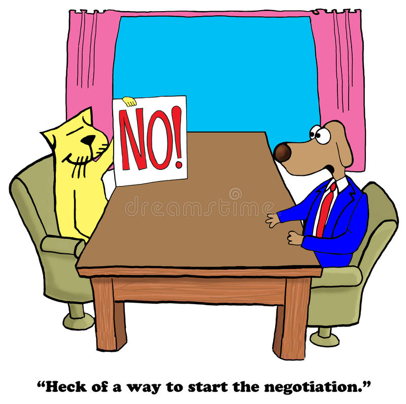 onderhandeling royalty-vrije illustratie