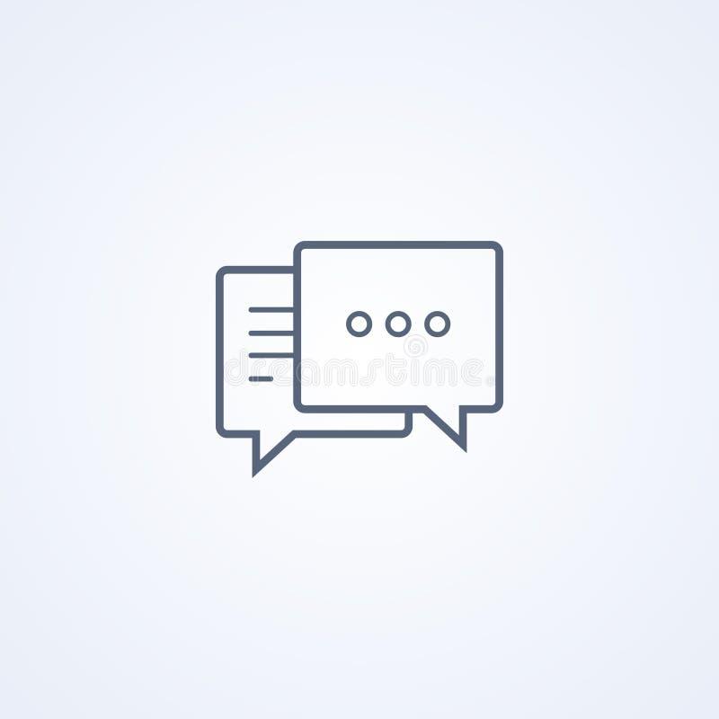 Onderhandeling, praatje, mededeling, vector beste grijs lijnpictogram royalty-vrije illustratie