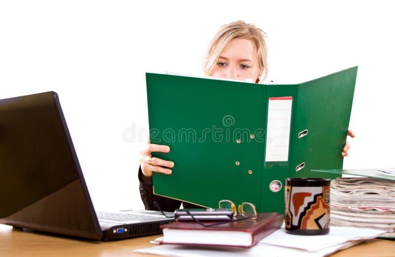 Onderneemster in bureau stock fotografie