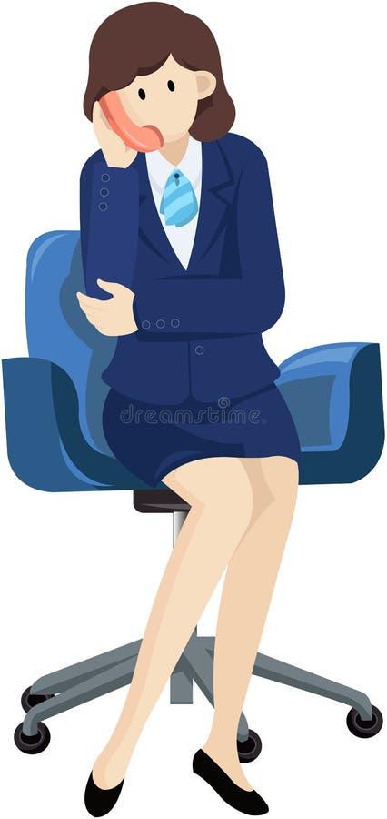 Onderneemster en telefoon vector illustratie