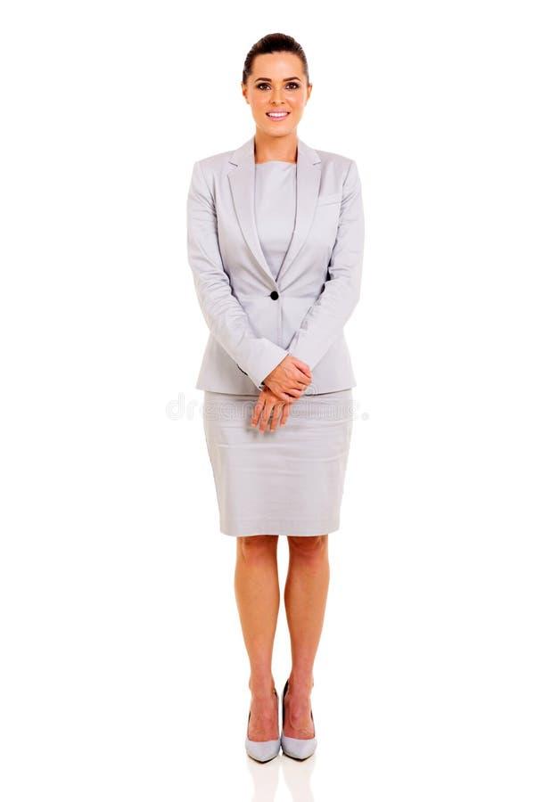 Onderneemster in kostuum royalty-vrije stock foto's