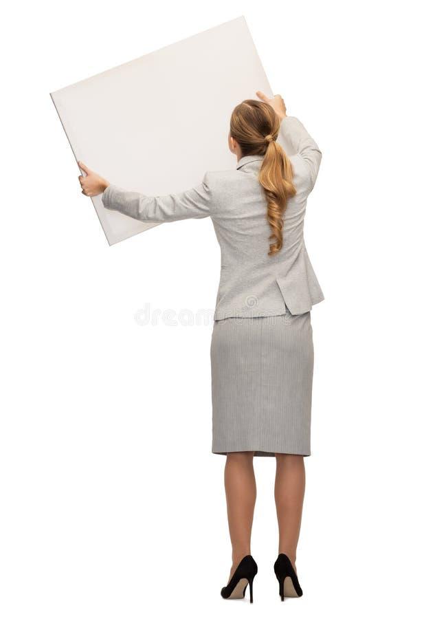 Onderneemster of leraar in kostuum van rug royalty-vrije stock afbeelding