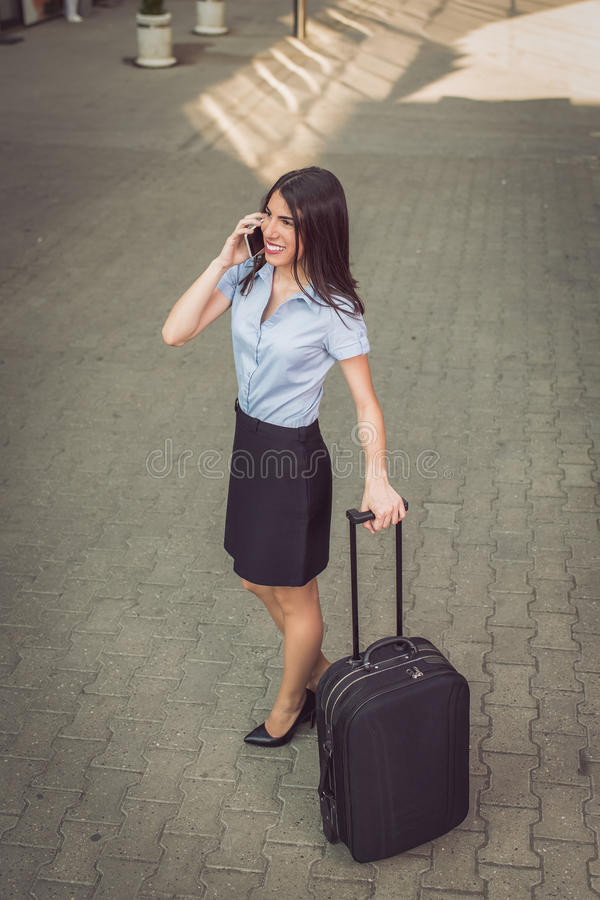 Onderneemster Traveling stock fotografie