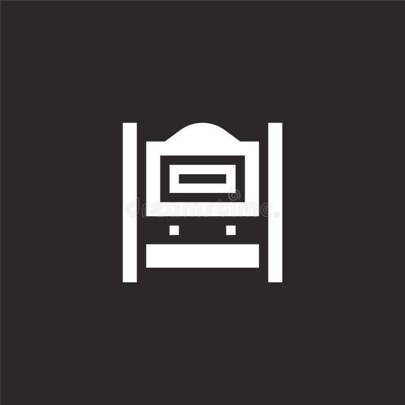 Onderteken pictogram Gevuld tekenpictogram voor websiteontwerp en mobiel, app ontwikkeling tekenpictogram van gevuld bed - en - o stock illustratie