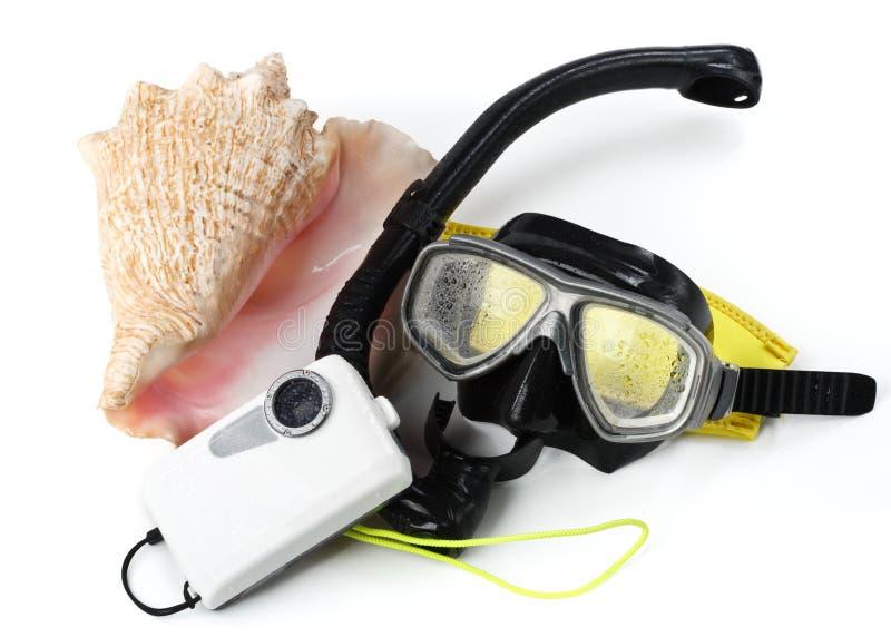 Onderwater apparatuur stock foto