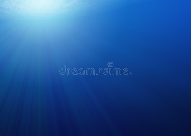 Onderwater - Diepe Blauwe Overzees - XL royalty-vrije stock foto