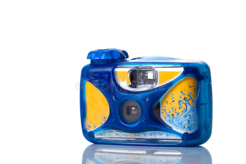Onderwater fotocamera stock fotografie