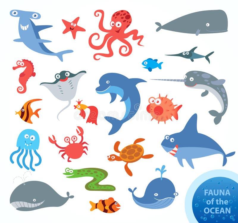 onderwater Grappig beeldverhaalkarakter royalty-vrije illustratie