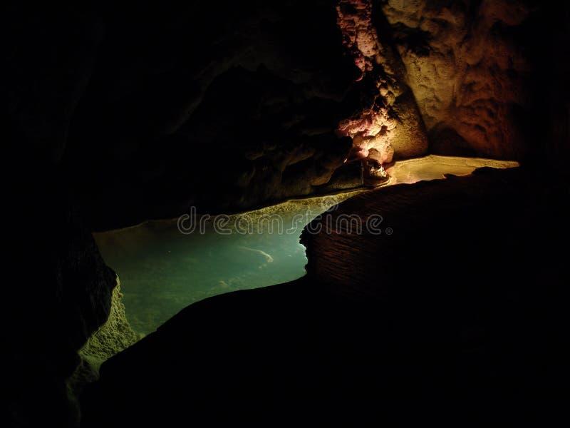 Onderwater hollichten stock fotografie
