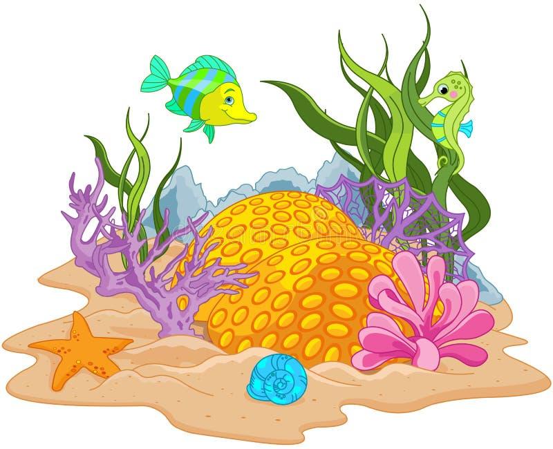 Onderwater landschap stock illustratie