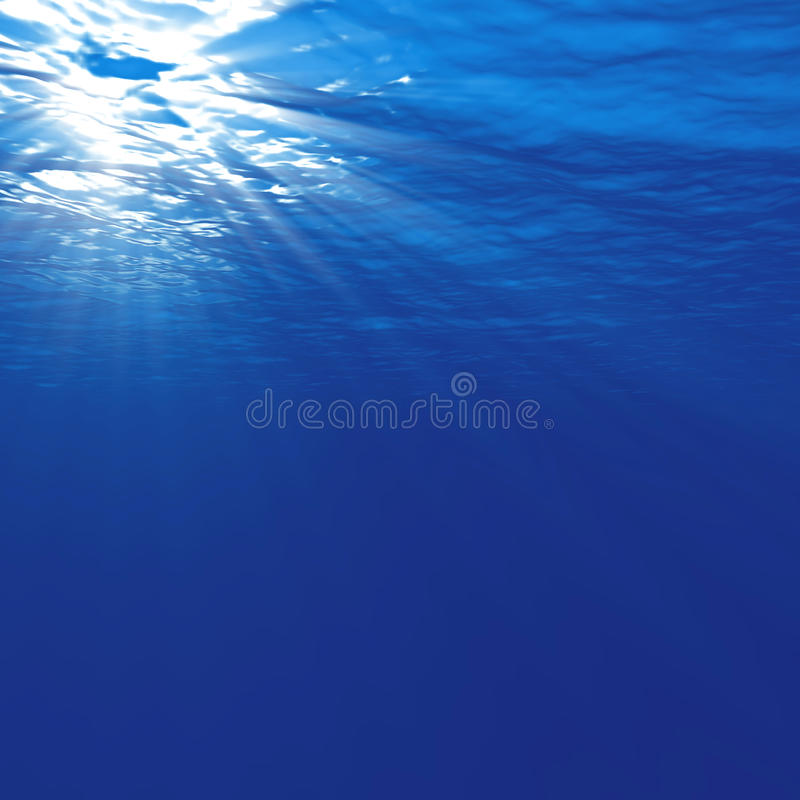 Onderwater Licht stock illustratie