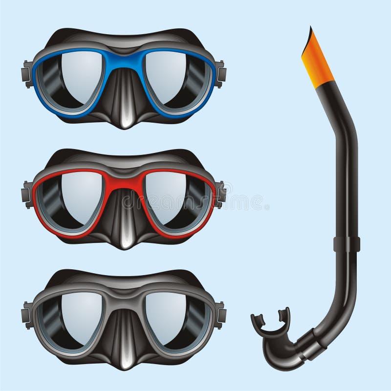 Onderwater Maskers vector illustratie