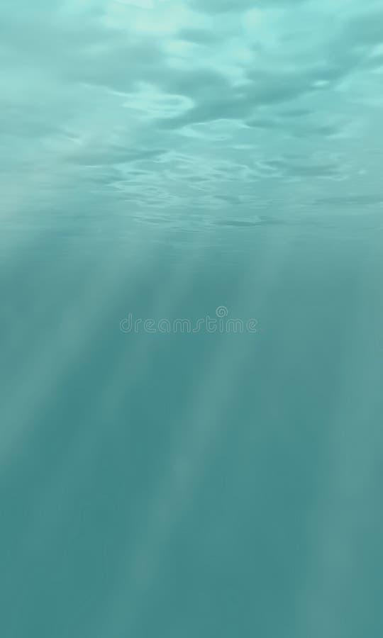 Onderwater mening, teruggegeven 3d royalty-vrije stock afbeeldingen
