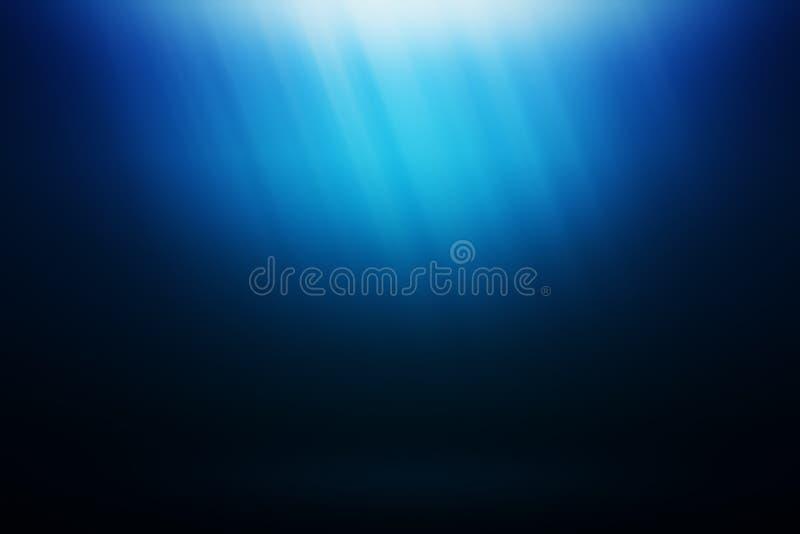 Onderwater oceaan blauwe foto als achtergrond royalty-vrije stock fotografie